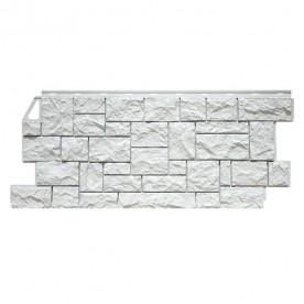 Цокольный сайдинг FineBer Камень дикий Мелованный белый