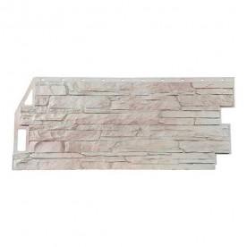 Цокольный сайдинг FineBer Скала Мелованный белый