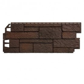Цокольный сайдинг VOX Solid Sandstone Dark Brown