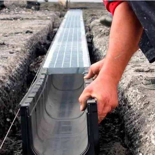 Водоотводной канал Альта-Профиль 110 мм.
