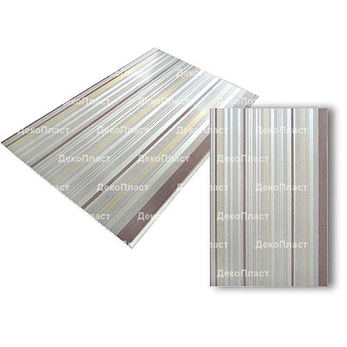 Панели ПВХ Decostar Стандарт New Линия шоколад 121/1, 3.0 м.