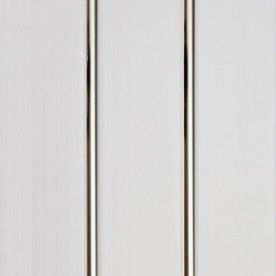 Панели ПВХ Decostar Люкс 2-х секционное Серебро, 3.0 м