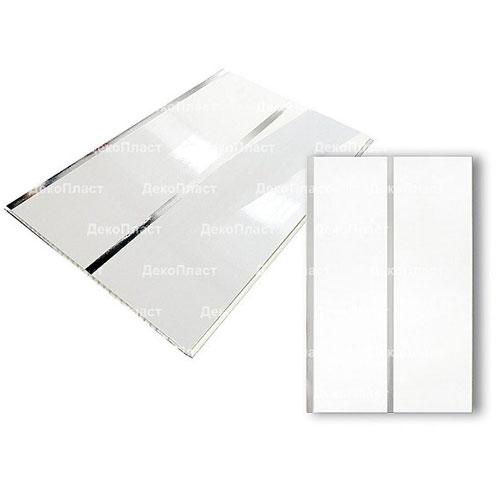 Панели ПВХ Decostar Люкс 2-х секционное Серебро