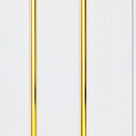 Панели ПВХ Decostar Люкс 2-х секционное Золото, 3.0 м