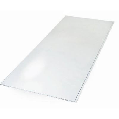 Панели ПВХ Пласт Декор Белый Глянец 2,5 м