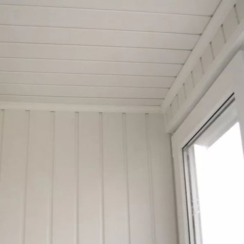 Панели ПВХ Пласт Декор Вагонка белая 6 м