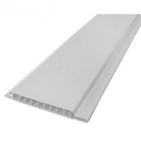 Панели ПВХ Пласт Декор Вагонка белая 0,1*6 м