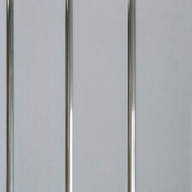 Панели ПВХ Пласт Декор Трехсекционная серебро 2,7 м