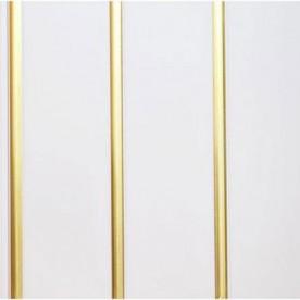 Панели ПВХ Пласт Декор Трехсекционная золото 2,7 м