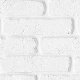 Панели ПВХ Пласт Декор Ассорти Белый кирпич 3 м