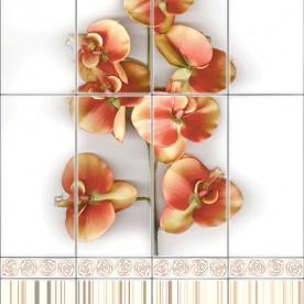 Панели ПВХ VOX Digital print - Мотиво Орхидея беж деко