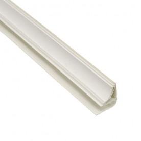 Плинтус потолочный Белый для ПВХ панелей