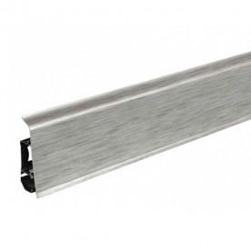 Плинтус напольный ПВХ Arbiton Indo 17 Алюминиум