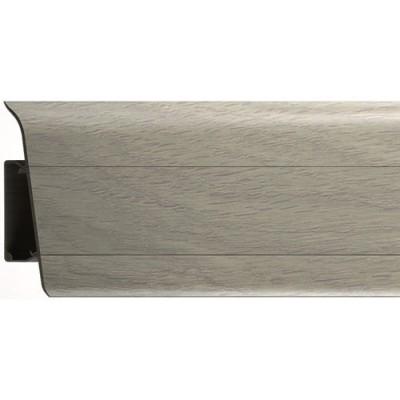Плинтус напольный ПВХ РосМат Rico Royal Дуб светло-серый 270