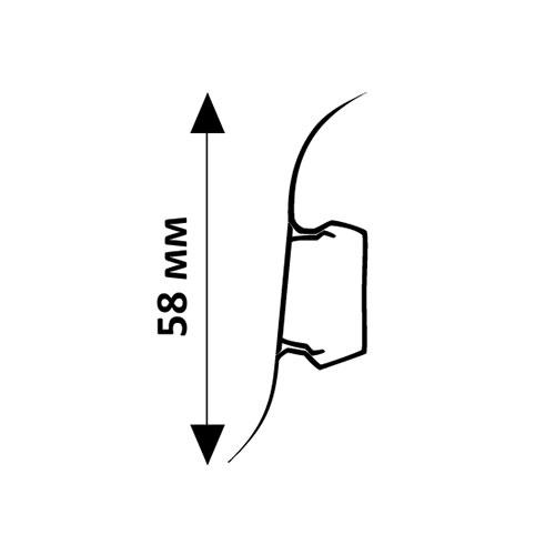 Плинтус напольный ПВХ Wimar 58 мм Дуб Робеалис 821