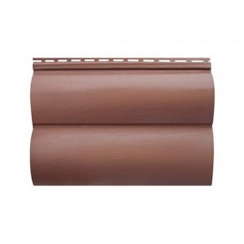 Сайдинг Альта-Профиль Блокхаус Красно-коричневый BH-03 двухпереломный (малый)