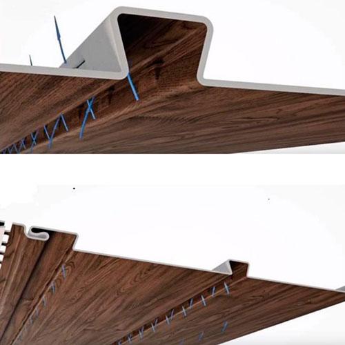 Софит VOX SV-09 Орех со скрытой перфорацией