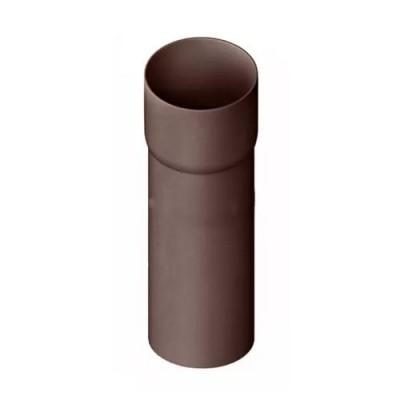 Труба водосточная с муфтой Альта-Профиль Элит коричневая 3 м.