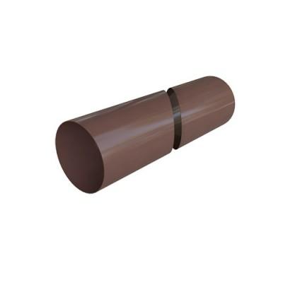 Труба водосточная Альта-Профиль Элит коричневая 4 м.