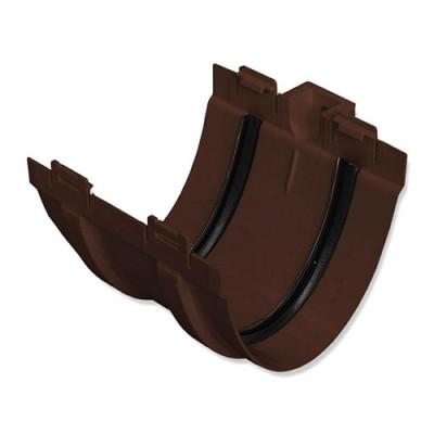 Муфта желоба Альта-Профиль Элит коричневая