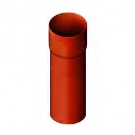 Труба водосточная с муфтой Альта-Профиль Элит красная 3 м.