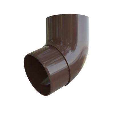 Колено трубы Альта-Профиль Стандарт 67 град. коричневое