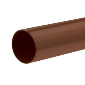 Труба водосточная Альта-Профиль Стандарт коричневая 3 м.