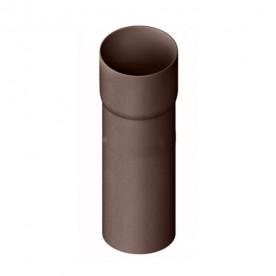 Труба водосточная с муфтой Альта-Профиль Стандарт коричневая, 3 м