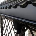 Кронштейн длинный усиленный металлический Galeco 110/80 4 мм черный