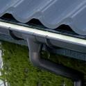 Кронштейн длинный усиленный металлический Galeco 110/80 4 мм графитовый