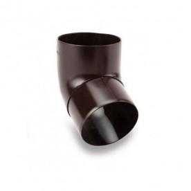 Колено Galeco ПВХ 110/80 67° темно-коричневое