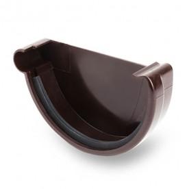 Заглушка левая Galeco ПВХ 110/80 темно-коричневая