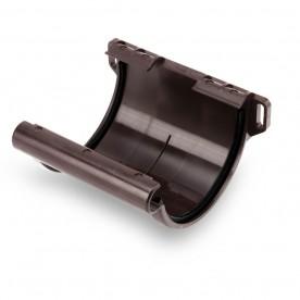 Соединитель желоба Galeco ПВХ 130/100 темно-коричневый