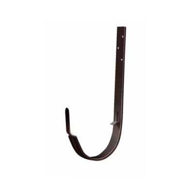 Кронштейн желоба металлический Grand Line Standart шоколадный