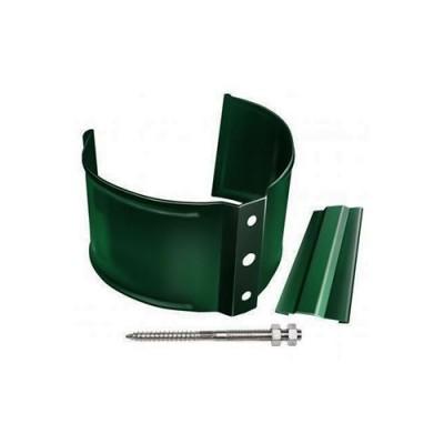 Хомут трубы металлический на кирпич Grand Line Standart зеленый