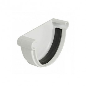 Заглушка желоба универсальная Nicoll LG25 белая (резиновое уплотнение)