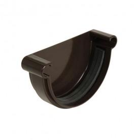 Заглушка желоба универсальная Nicoll LG25 коричневая (резиновое уплотнение)