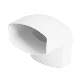 Отвод Nicoll LG28 87° белый