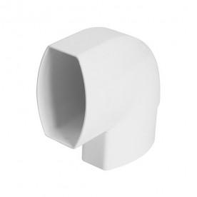 Отвод по плоскости стены Nicoll LG28 90° белый