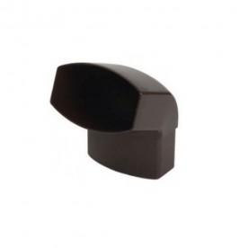 Отвод Nicoll LG28 67° коричневый