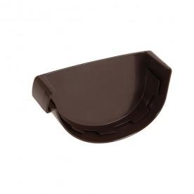 Заглушка желоба правая Nicoll LG29 коричневая