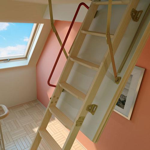 Чердачные лестницы Fakro LTK Thermo 60x120x280