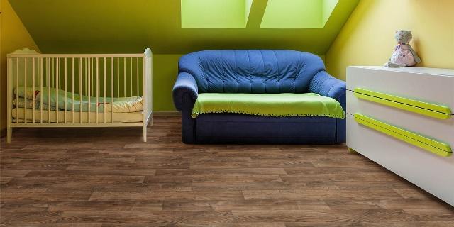 Вариант линолеума Juteks Forum для детской комнаты
