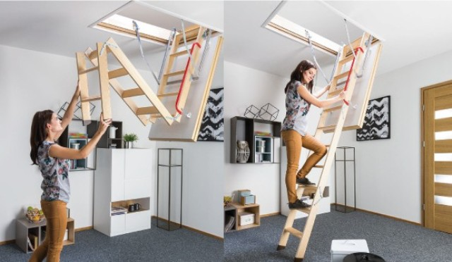 Чердачные лестницы бренда Деке